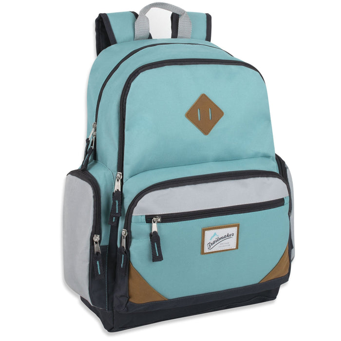 wholesale laptop backpack in teal