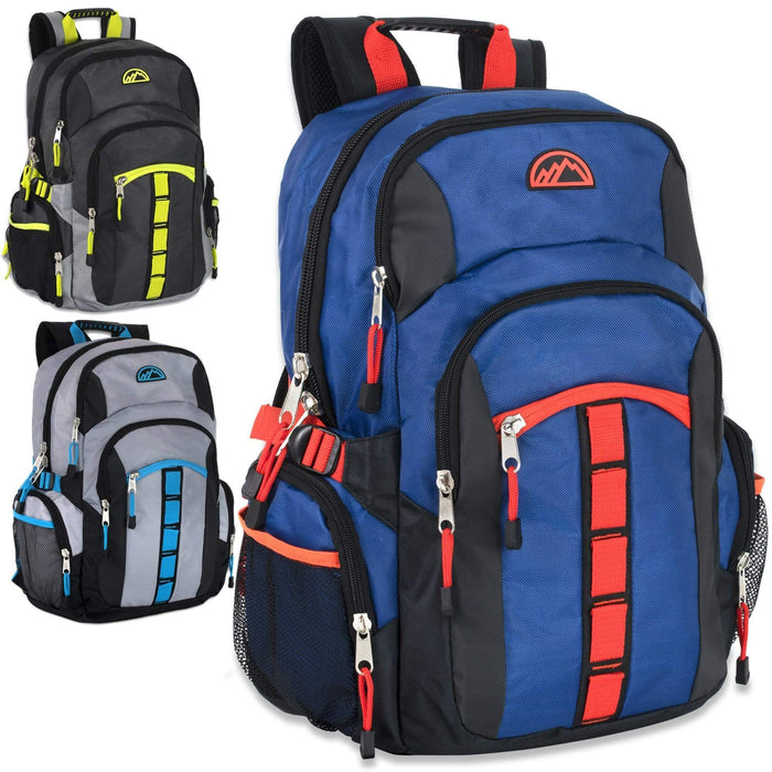 Wholesale multi pocket backpack in assorted colors