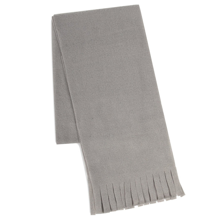 "Wholesale Adult Fleece Scarves 60"" x 8"" With Fringe - Assorted Colors"