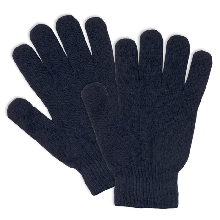 Wholesale Adult Knitted Gloves - 3 Assorted Colors