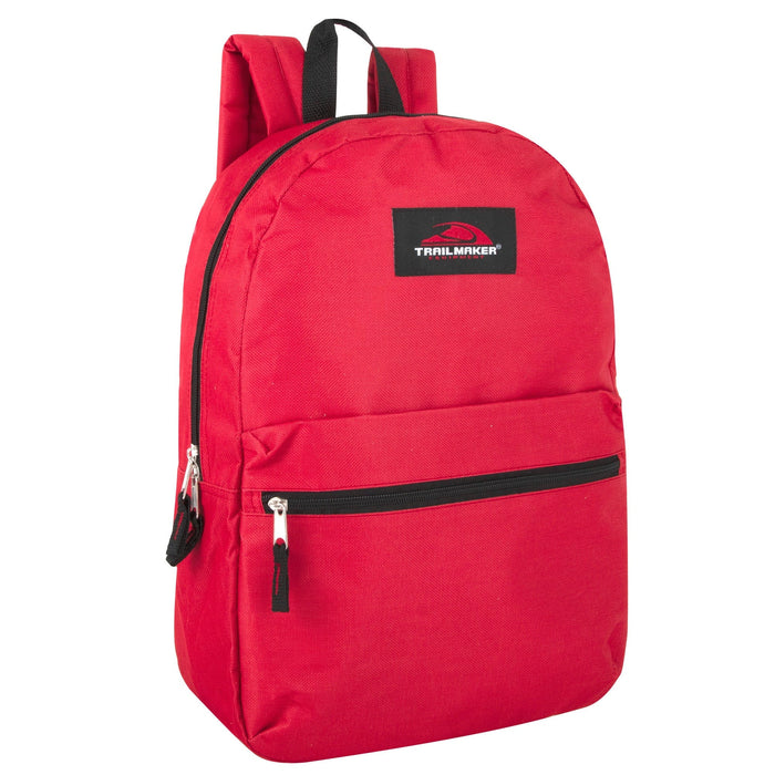 Wholesale Trailmaker Classic 17 Inch Backpack -  12 Color