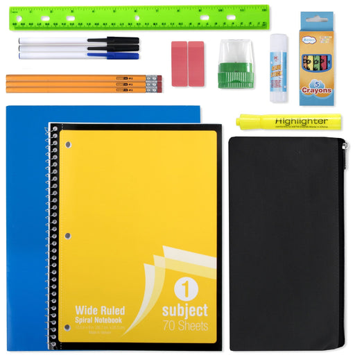 wholesale 20 piece school supply kit