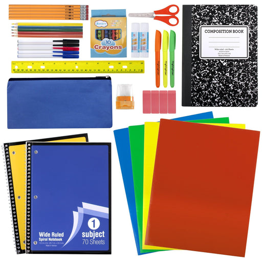 wholesale 45 piece school supply kit