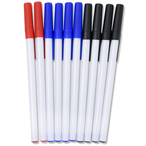wholesale pens in red, blue, and black