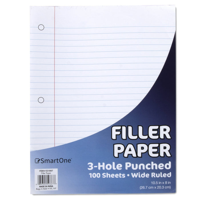Wholesale Filler Paper - Wide Ruled 100 Sheets