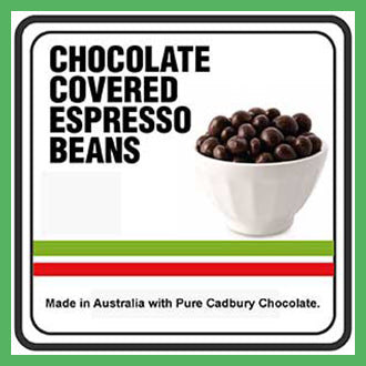 Chocolate coated coffee baens | Goody Goody Gum Drops