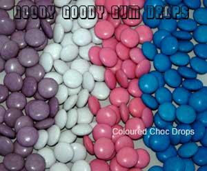 Goody Goody Gum Drops -  Coloured choc drops