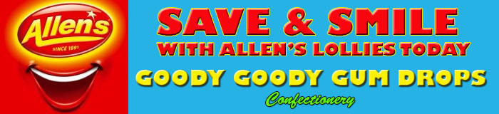 Allen's Lollies on Special | Goody Goody Gum Drops Lolly Shop