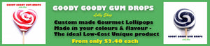 Personalised Lollipops - Custom made in your colours | Goody Goody Gum Drops.