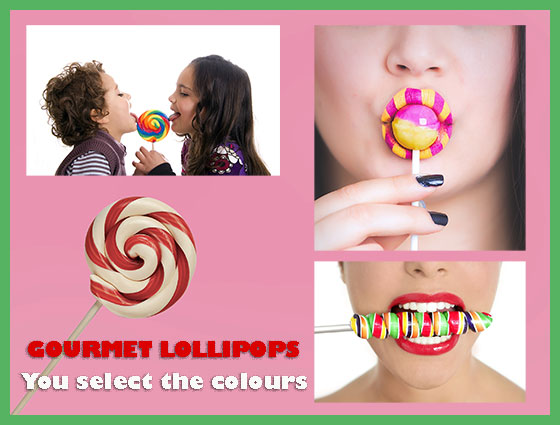 Gourmet Lollipops - You choose the colours | Goody Goody Gum Drops
