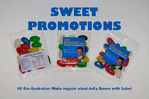 50 Gm bags of Promotional Jelly Beans with Your Branding - Goody Goody Gum Drops