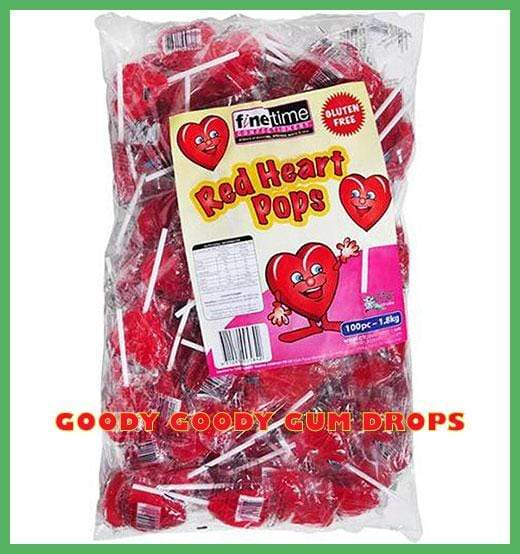 Big RED HEARTS Bag of approx 100 Goody Goody Gum Drops