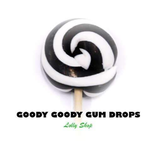 Black & White Gourmet Lollipops 5 cm (Pack of 25) Goody Goody Gumdrops Pty Ltd