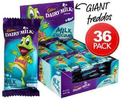 Giant Freddo Frogs Large Milk Choc (36) - Goody Goody Gum Drops