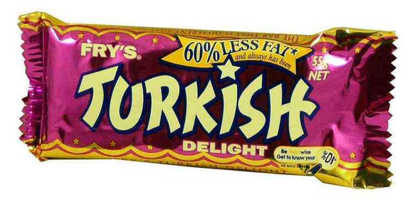 Fry's Turkish Delight Bars (32 x 55 Gm Bars) - Goody Goody Gum Drops