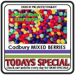 Cadbury Mixed Berries 10 Kg BULK Box - Goody Goody Gum Drops