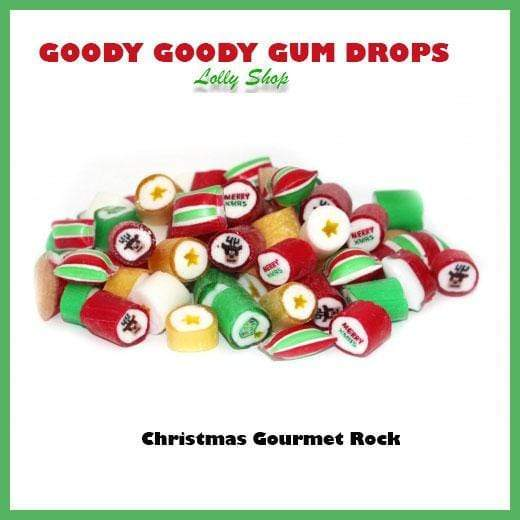 Christmas Mix Gourmet Rock Candy 1 Kg Goody Goody Gum Drops