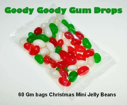 Christmas Mix Mini Jelly Beans (10 x 60 Gm Bags) - Goody Goody Gum Drops