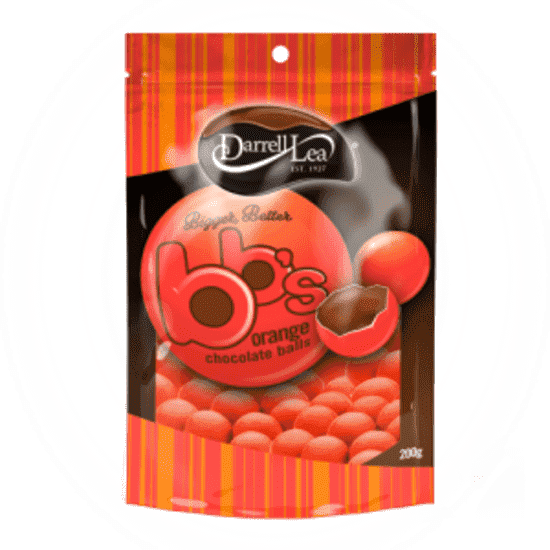 Darrell Lea Orange Balls 180 Gm Box of 12 - Goody Goody Gum Drops