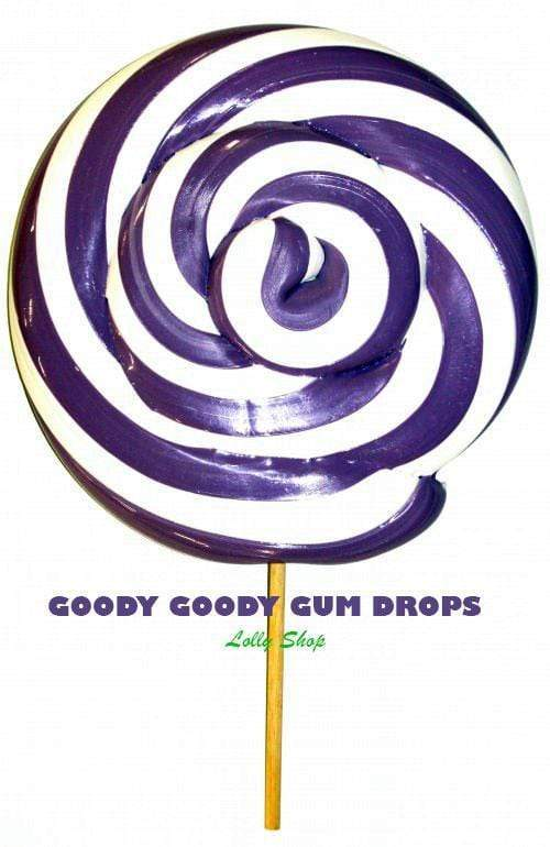 Design your own Giant 23 cm Gourmet Lollipop Goody Goody Gum Drops Lolly Shop