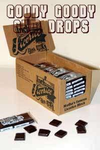 Licorice Blocks Box of 40 Packs (240 pieces) - Goody Goody Gum Drops