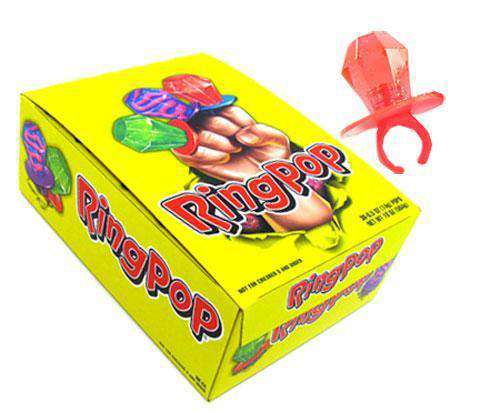 Dummy Ring Pops Box of 24 - Goody Goody Gum Drops