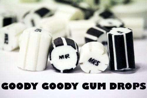 Goody Goody Gum Drops ROCK CANDY > GOURMET ROCK Mr  & Mrs Gourmet Wedding Rock 1 Kg