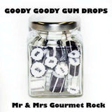 Goody Goody Gum Drops SWEET PROMOTIONS Mr & Mrs Gourmet Rock in 70 Gm Glass Jars (14 jars)