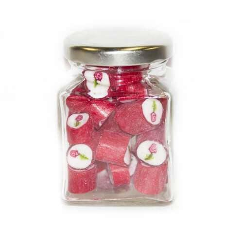 Goody Goody Gum Drops WEDDINGS - PARTIES > PARTIES Rose Gourmet Rock in 70 Gm Glass Jars (14 jars)
