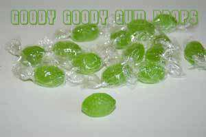 Fruity Drops - Green - Wrapped 1Kg - Goody Goody Gum Drops