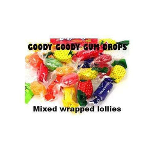 Goody Goody Gum Drops WRAPPED LOLLIES Mixed Wrapped Lollies - Imported 1 Kg
