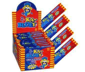 KA Bluey Sour Chew Bars (80 x 9 Gm Bars) Gluten Free - Goody Goody Gum Drops