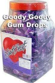 HartBeats - Jar or Bag of Approx 400. Purple Wrapping - Goody Goody Gum Drops