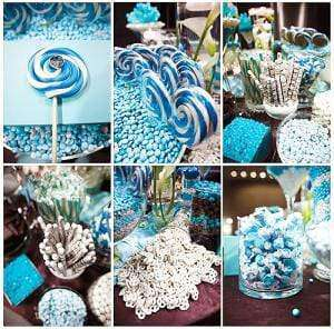 BLUE Candy Buffet Package for 25 Guests at $4 each - Goody Goody Gumdrops