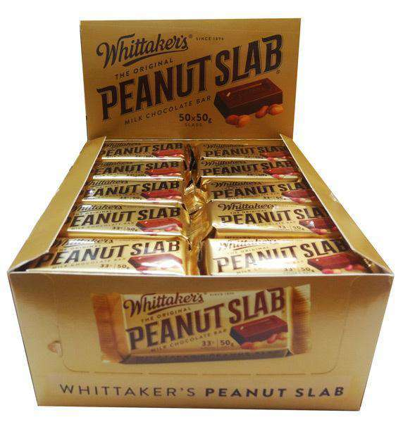 Whittaker's Peanut Slab (50 x 50 gm bars) - Goody Goody Gum Drops