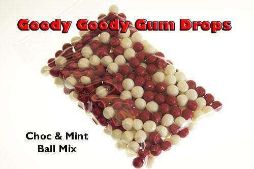 Choc & Mint Red & White Balls Mix - Goody Goody Gum Drops