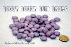 Goody Goody Choc Drops Purple 500 Gm or 1 Kg - Goody Goody Gum Drops
