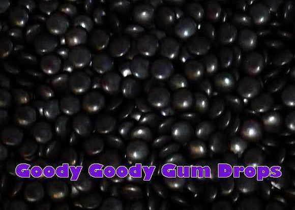 Coloured Choc Buttons BLACK 1 Kg - Goody Goody Gum Drops