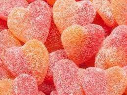 Sour Peach Hearts - Goody Goody Gum Drops