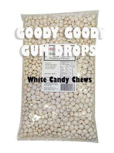 Goody Goody Gumdrops Pty Ltd LOLLIES BY COLOUR > WHITE Lollies White Candy Chews 1 Kg