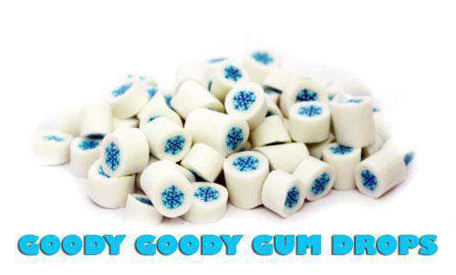 White Snowflake Gourmet Rock Candy 1 Kg - Goody Goody Gum Drops