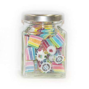 Birthday Gourmet Rock in 70 Gm Glass Jars (14 jars) - Goody Goody Gum Drops