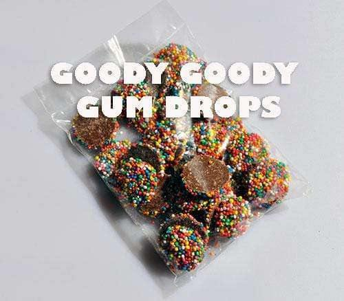 Promotional bags Choc Buds-Freckles 100 x 60 Gm - Goody Goody Gum Drops