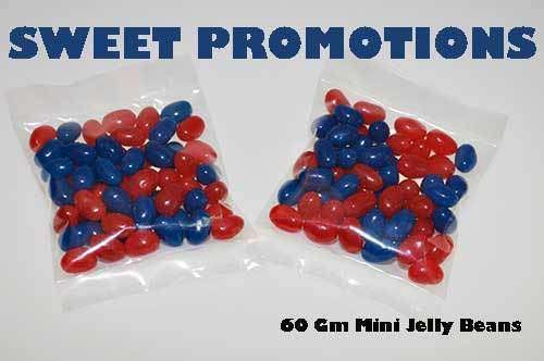 Mini Jelly Beans in Clear Bags 100 x 60 Gm bags - Goody Goody Gum Drops