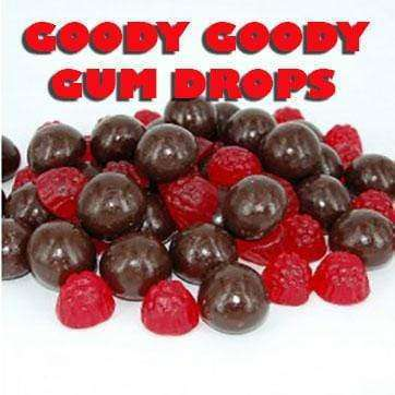 Chocolate coated Raspberry Jellies 10 x 100 Gm bags - Goody Goody Gum Drops