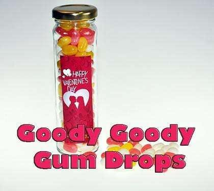 Mini Jelly Beans Tall Glass Jars 100 x 110 Gm - Goody Goody Gum Drops