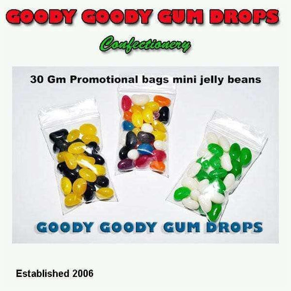 Goody Goody Gumdrops Pty Ltd SWEET PROMOTIONS Mini Jelly Beans - You choose the colours - 100 x 30 Gm Bags