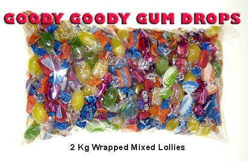 GGGD Mixed Lollies 2Kg (Individually Wrapped) - Goody Goody Gum Drops