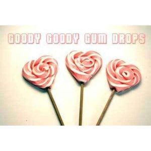 Hot Pink & White 5 cm Heart Lollipops (Minimum 25) - Goody Goody Gum Drops