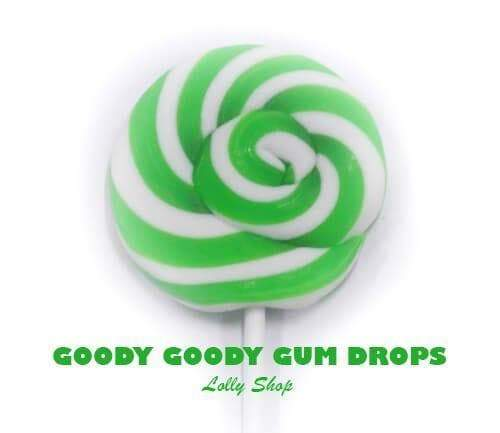 Green & White Gourmet 5 cm LolliPops (Box of 25) Goody Goody Gumdrops Pty Ltd